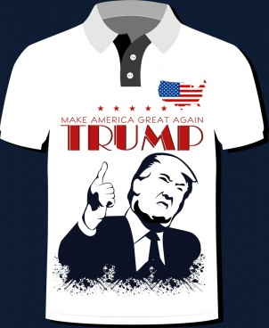 america tshirt template slogan president flag icons decoration