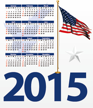 american flag and calendar15 vector