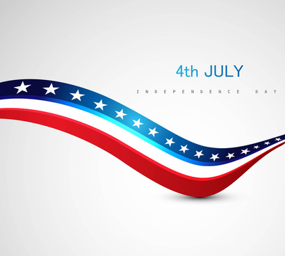 american flag colorful vector design