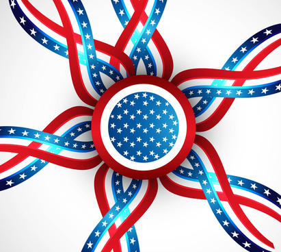 american flag ribbons