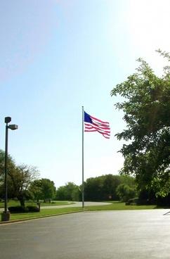 american flag scene