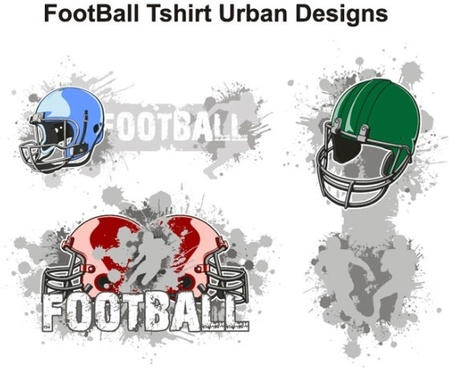 American football theme tshirt design trend vector