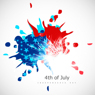 american independence day celebration grungy background in american flag color for 4th of july vector