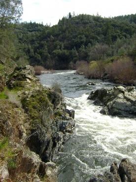 american river a