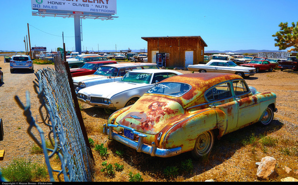 american wrecked cars