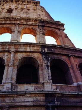 amphitheater ancient arch architecture brick building