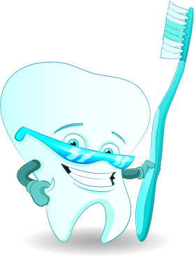 amusing dental design elements vector