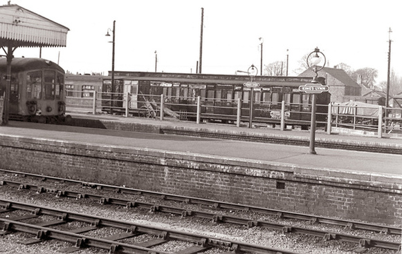 an interesting railway vignette kings lynn 1970