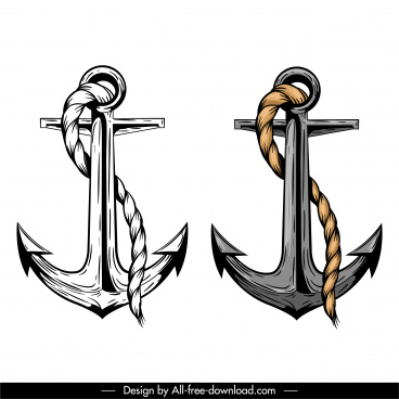 anchors icons classical mockup sketch