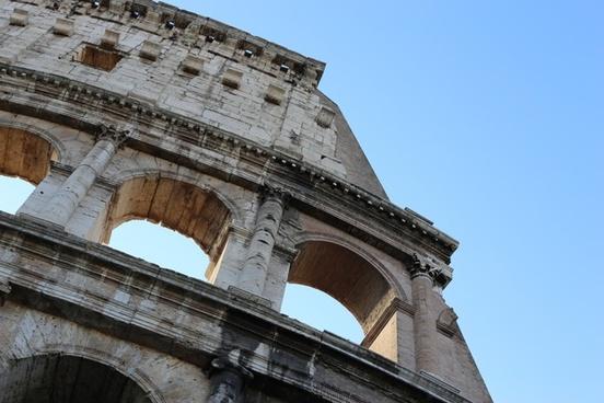 ancient antique architecture building city coliseum