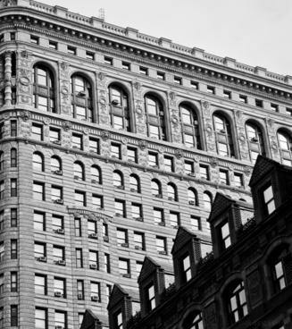 ancient architecture black and white building city