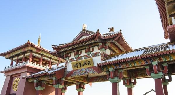 ancient buddhism building culture dragon emperor