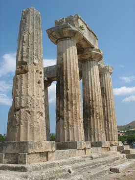 ancient corinth temple ruins greece