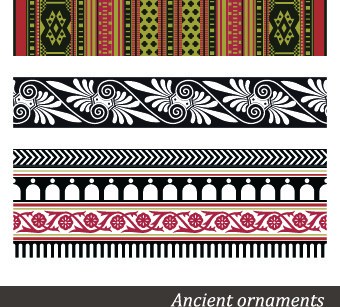 ancient ornament pattern vector