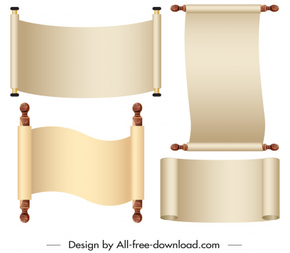 ancient scroll edict template shiny 3d blank sketch