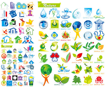 and ecological house icon vector
