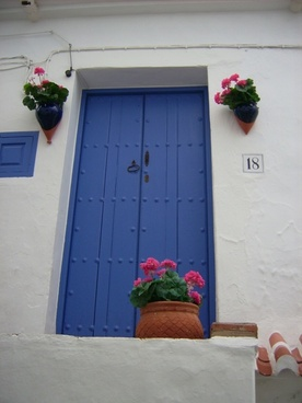 andalusia blue door blue white