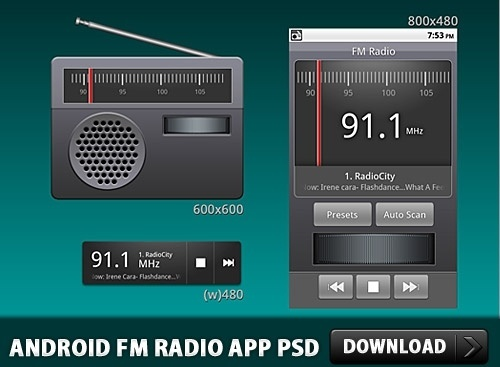Android FM Radio Application PSD