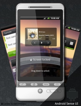 android gui interface design package psd
