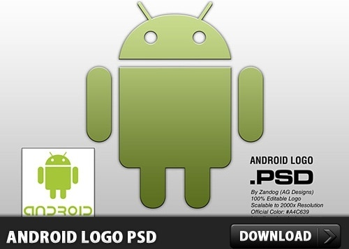 Android Logo PSD