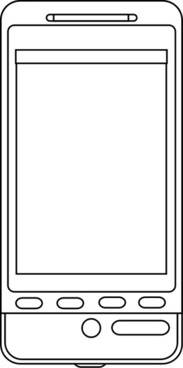 Android phone line art
