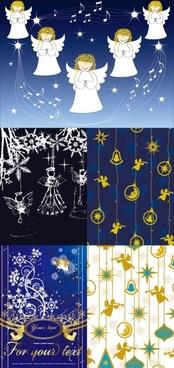 angel christmas background vector