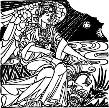 Angel In The Garden clip art