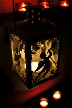 angel lantern candle light
