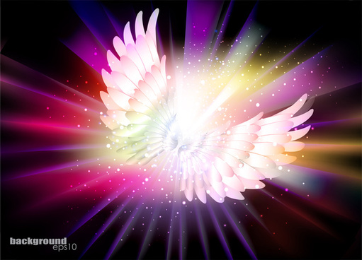 angel wing abstract background