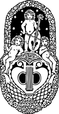 Angels Play Music clip art