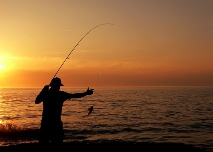 anglers silhouette picture