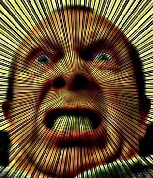 angry man rays