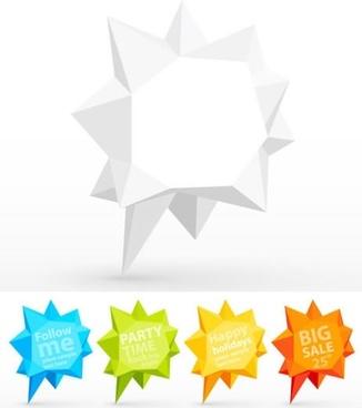 angular dimensional vector dialog fold