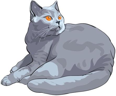 animal cat 03 vector