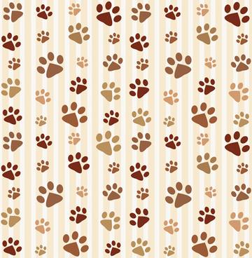 animal footprints cute pattern vector