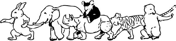 Animal Parade clip art