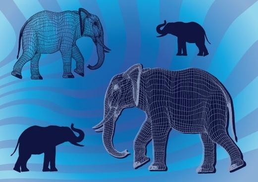 animal silhouette 04 vector