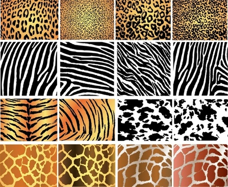 animal leather pattern leopard zebra tiger giraffe decor