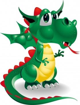 animal vector cute dragons