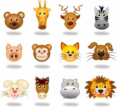 Animals face icons