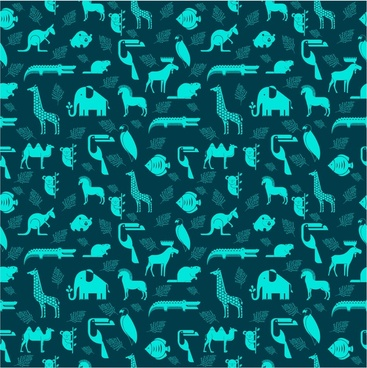 animals repeating pattern vector illustration
