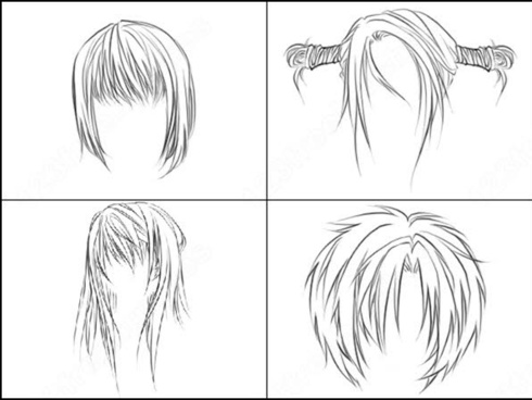 anime hairs brush