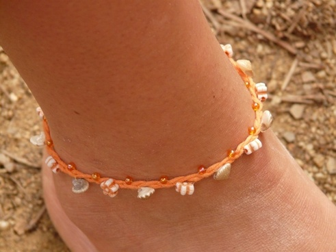anklet chain foot