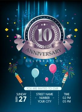vector ribbon anniversary banner free vector download 13 393 free