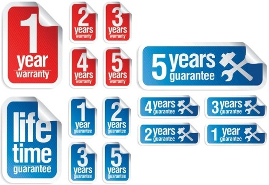 anniversary sticker vector