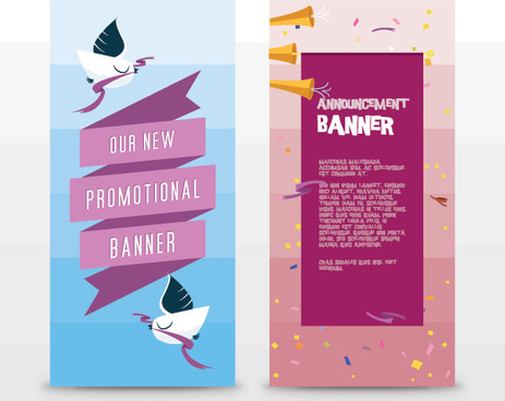 announcement banners vector graphic