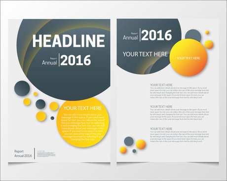 Annual report cover page templates free vector download 18263 free page template vector annual report brochure design with various colorful rounds maxwellsz