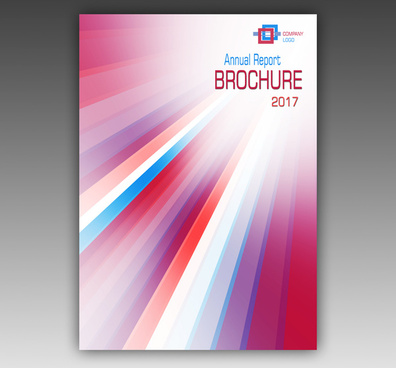 annual report template brochure with abstract design