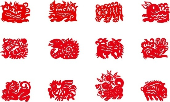 another version of the zodiac papercut vector