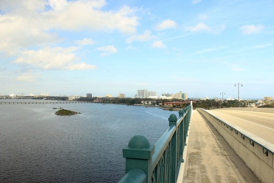 another view from the bridge at daytona beach florida